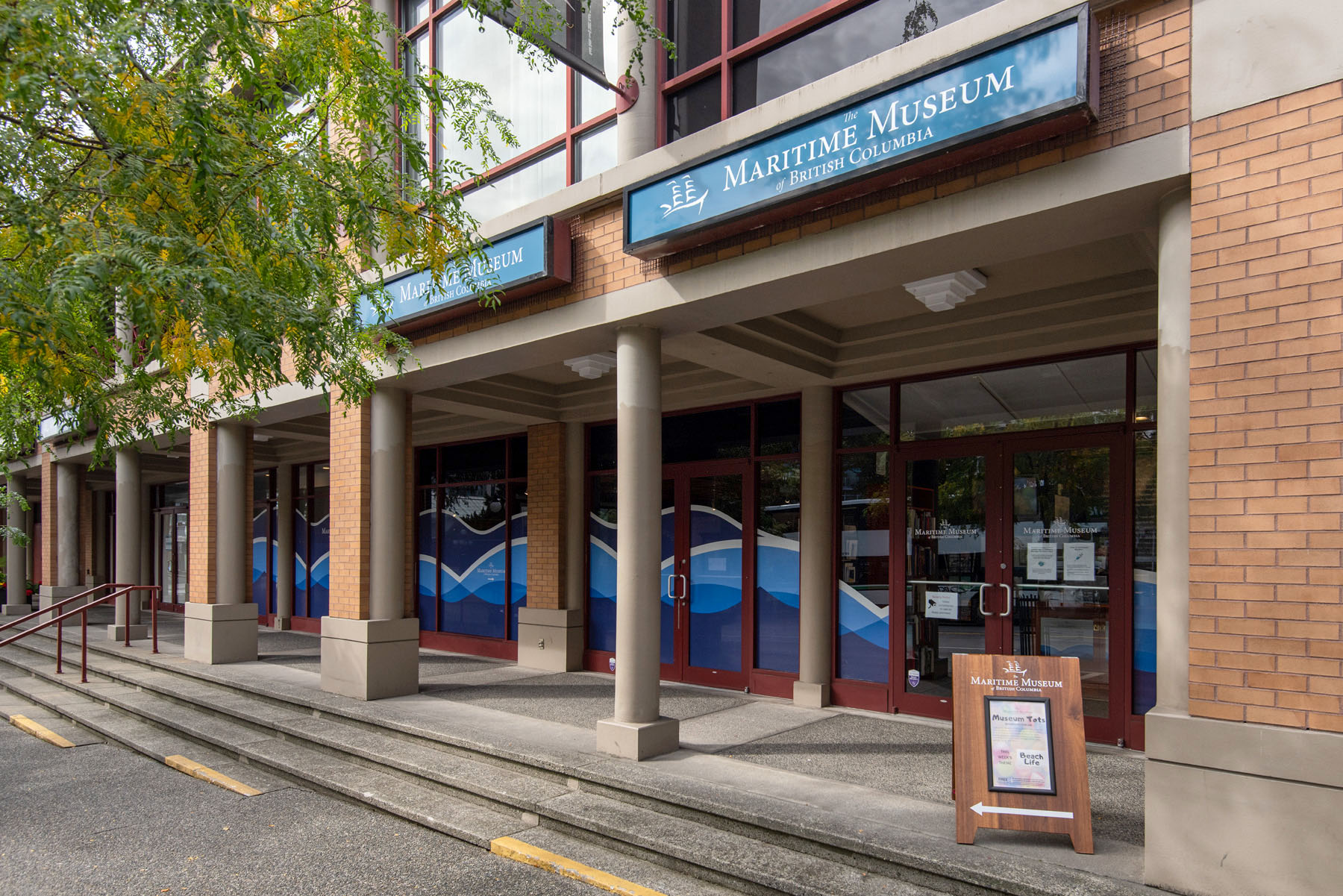 Front entrance of Maritime Museum of BC