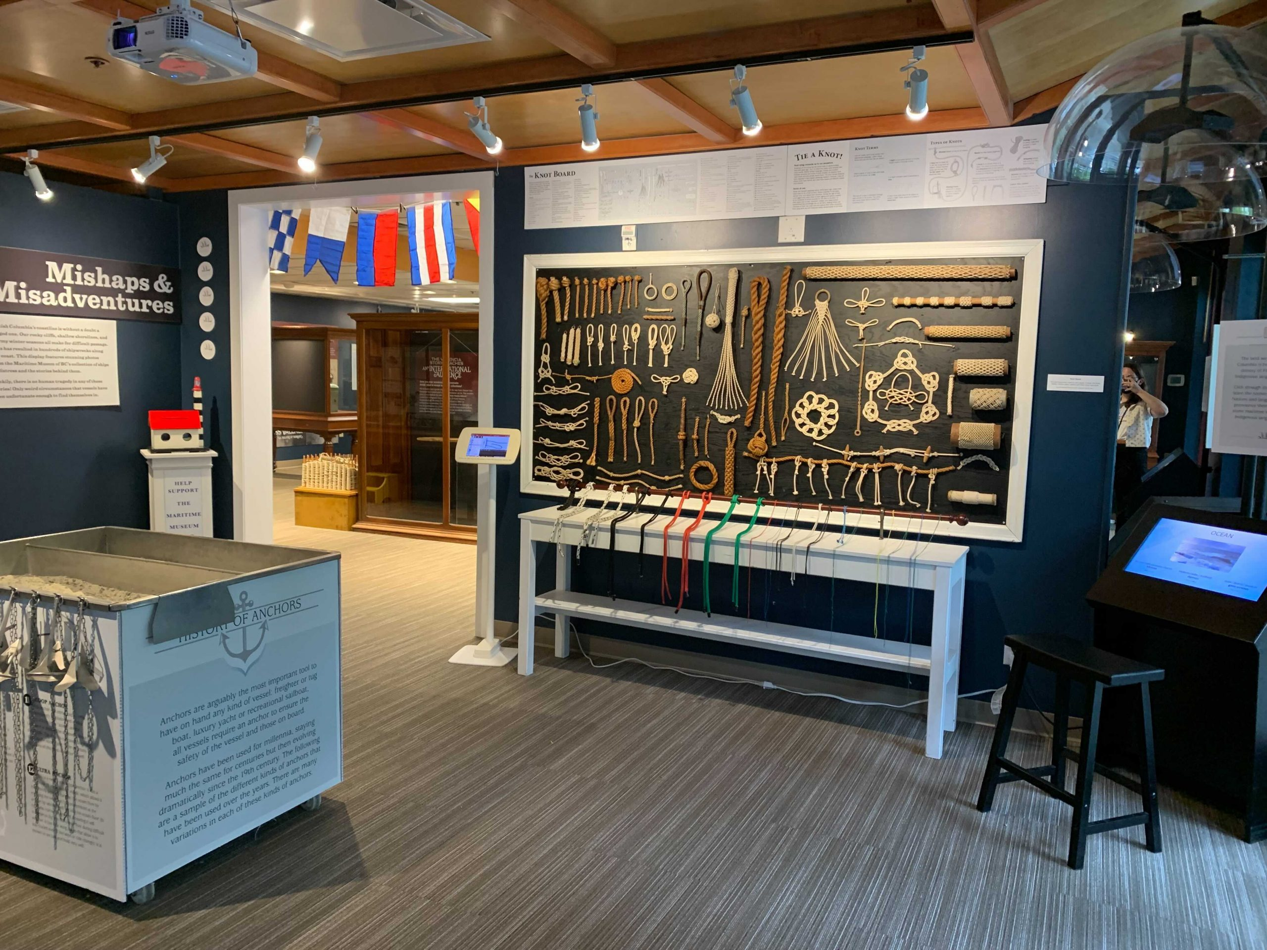 Interior gallery of the Maritime Museum of BC