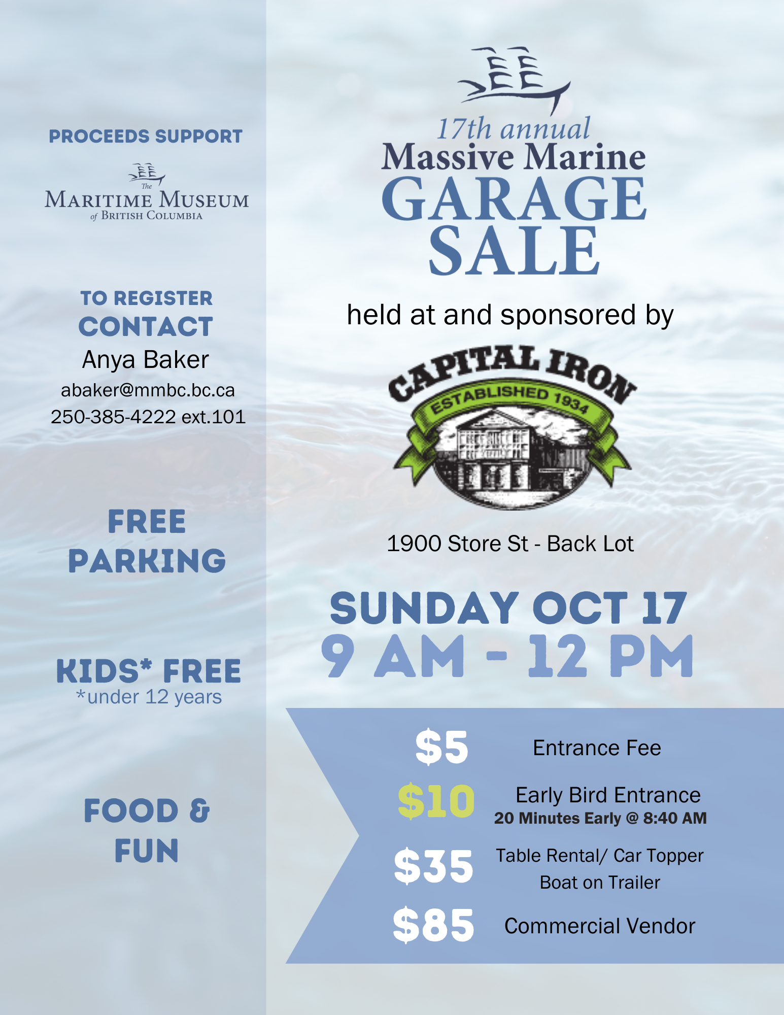 Massive Marine Garage Sale poster